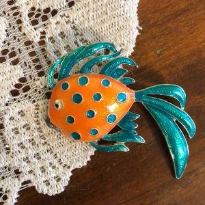 Vintage Goldfish Brooch